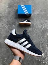 Мужские кроссовки Adidas Iniki runner Blue, фото 2