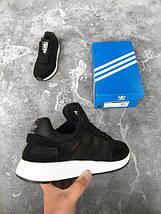 Женские кроссовки Adidas Iniki runner black white, фото 3