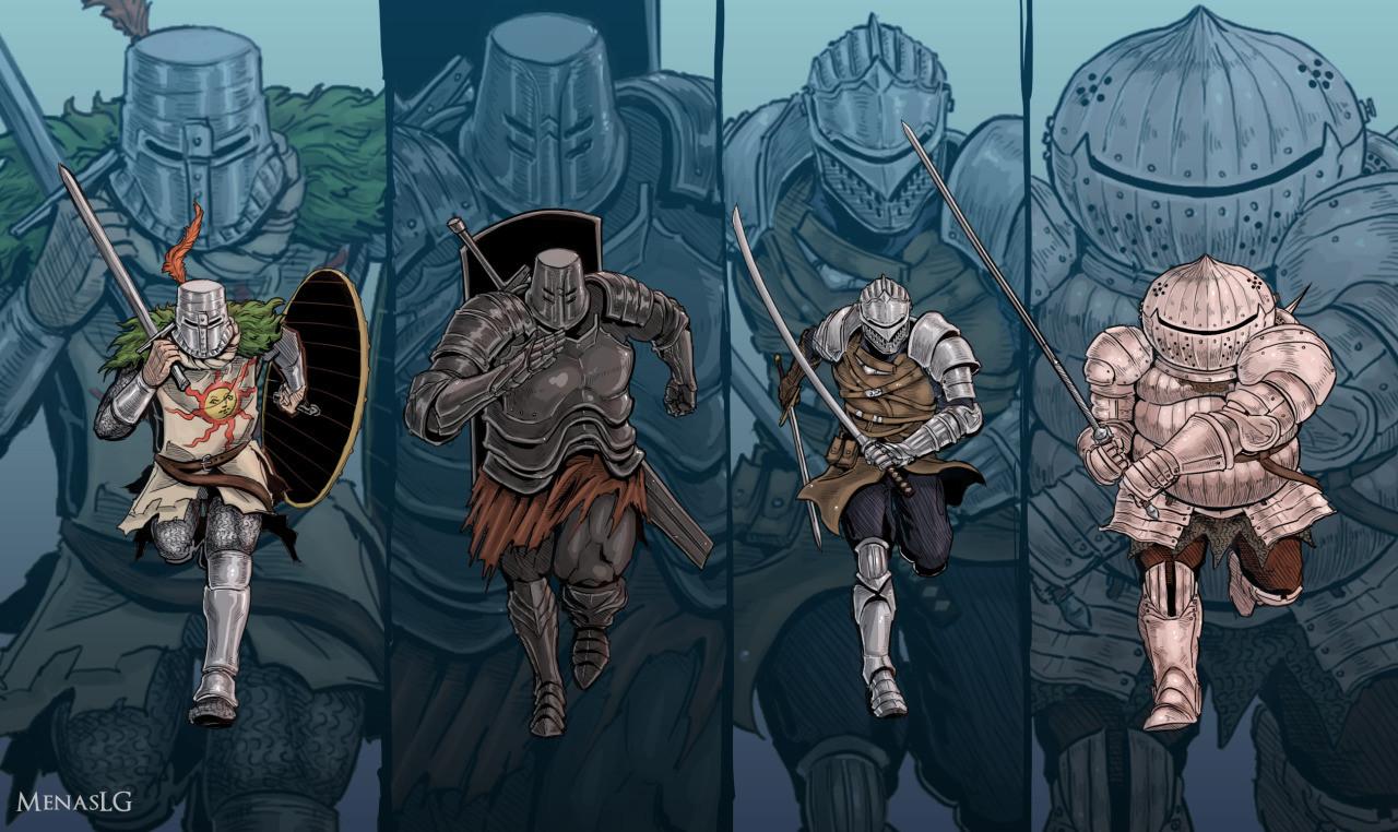 Картина GeekLand 60х40см DarkSouls Knights