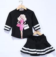 "Детский костюм юбка и кофта ""Барби"""