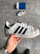 Женские кроссовки Adidas Superstar white classic, фото 3