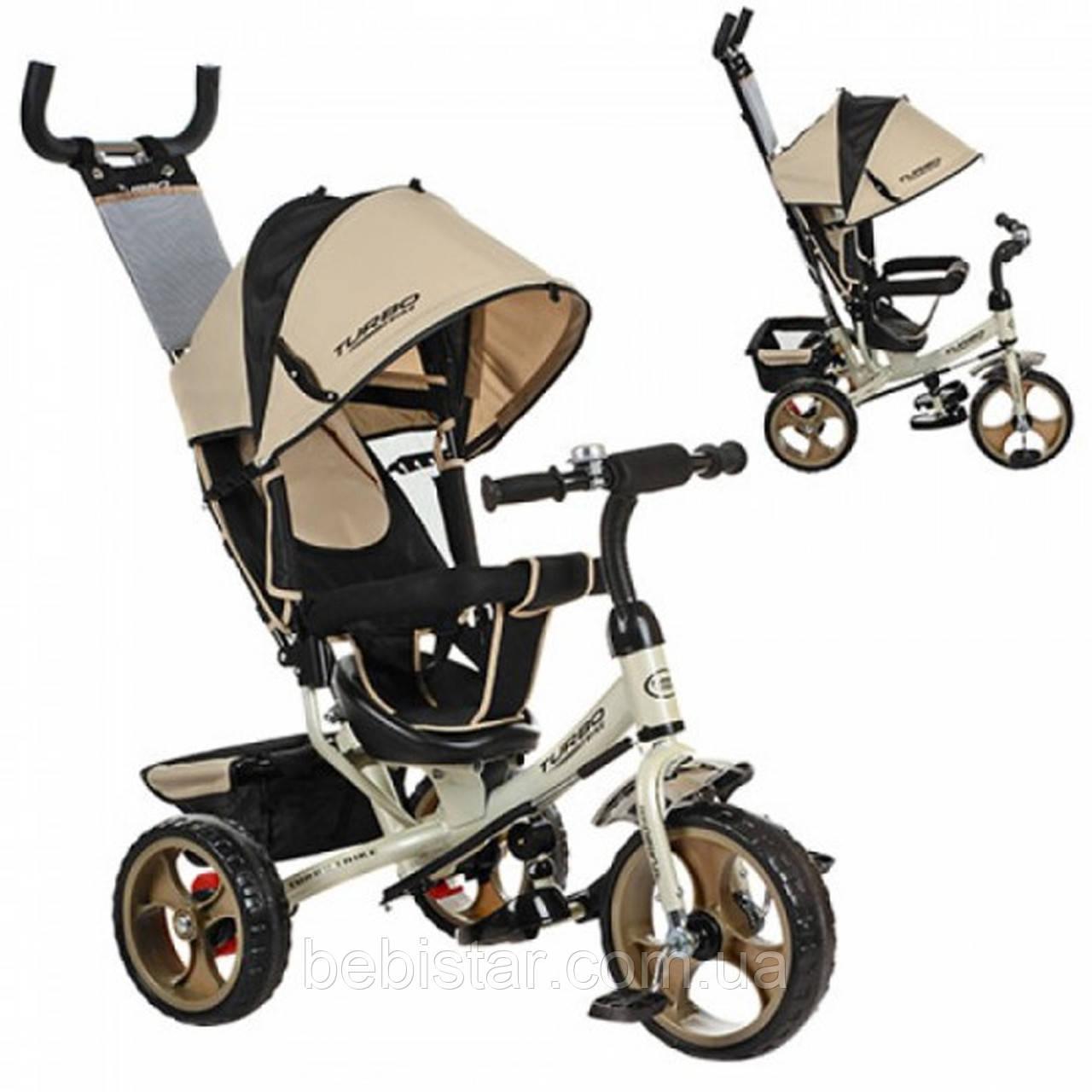 """Детский трехколесный велосипед """"Turbo Trike цвет: золото"""