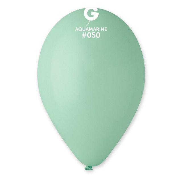 """Латексные шары Пастель Аквамарин 10"""" (25-26 см), 100 штук ТМ Gemar"""