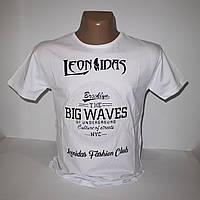 Мужская белая футболка с выпуклыми буквами большого размера 3378G