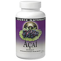 Source Naturals, Экстракт ягод асаи, 500 мг, 120 капсул
