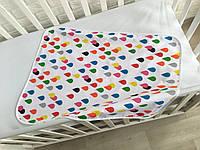 Непромокаемая многоразовая пеленка «Разноцветный дождик», хлопок+мембранная махра