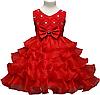 """Красное платье для девочки """"Волны"""""""