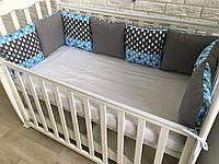 Защита бортики на кроватку подушки «Летний дождь»