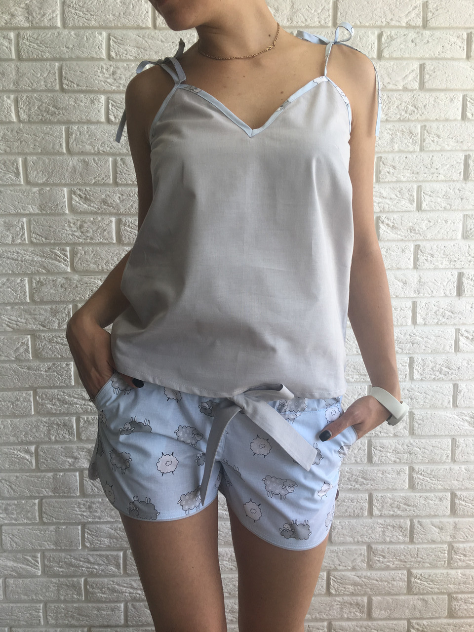 a5133bd4fac Женская летняя пижама с шортами «Пижама пати» S M - Интернет магазин  BuyPlace.com