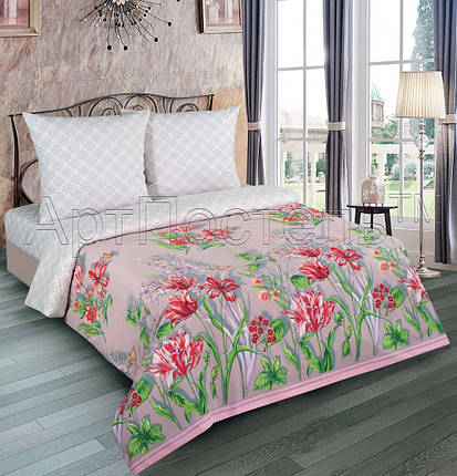 Постельное белье Леди поплин  ТМ  Комфорт-текстиль  (Двуспальный), фото 2