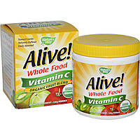 Nature's Way, Alive!, Vitamin C, Powder, 120 g