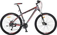 """Велосипед CROSSER Pionner*17 26"""" серый алюминиевый горный гидравлика"""