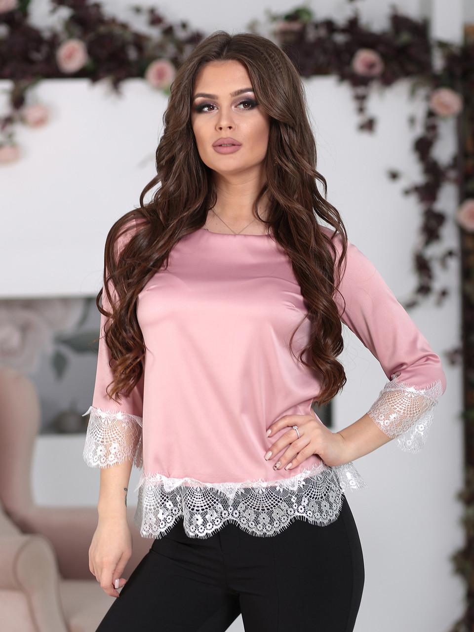 Шелковая Блуза Азалия розовая