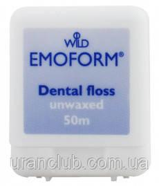 EMOFORM Dental floss зубная нить,невощеная 50 м.