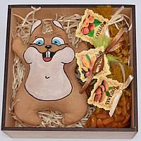 """Подарочный набор """"Белка с орехами"""" (игрушка, набор орехов)"""