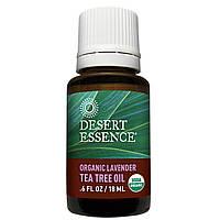 Desert Essence, Органическая лаванда с маслом чайного дерева, 0,6 жидких унций (18 мл)