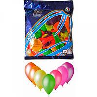 Воздушные шары 19 см пастель с рисунком ассорти неон Gemar 70811