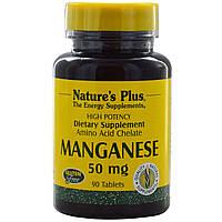 Nature's Plus, Марганец, 50 мг, 90 таблеток
