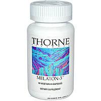 Thorne Research, Melaton-3, 60 растительных капсул
