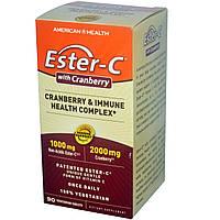 American Health, Иммуностимулирующий комплекс Ester-C с клюквой, 90 вегетарианских капсул