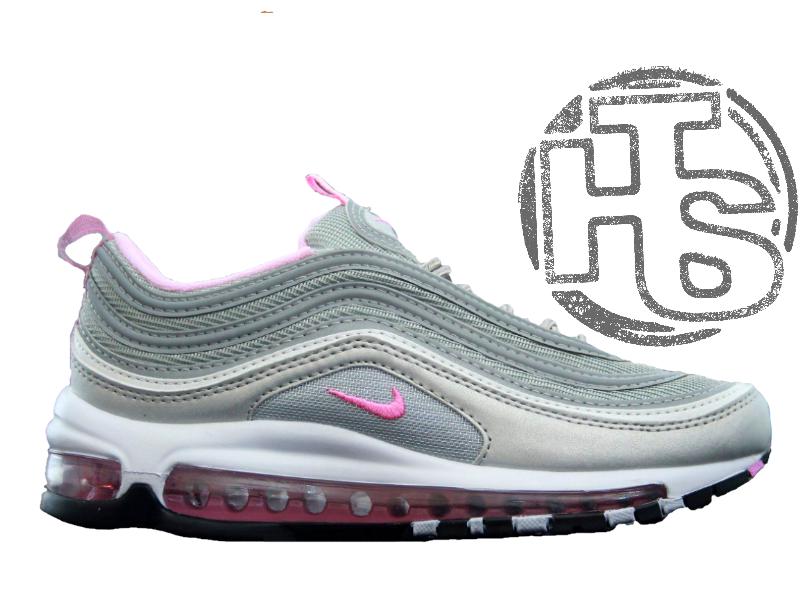 d46e09f3186818 Женские кроссовки Nike Air Max 97 OG QS Silver/Pink 884421-202 - Интернет