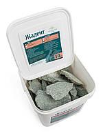 Камень жадеит колотый мелкий (ведро 10 кг) для электрокаменки, фото 1