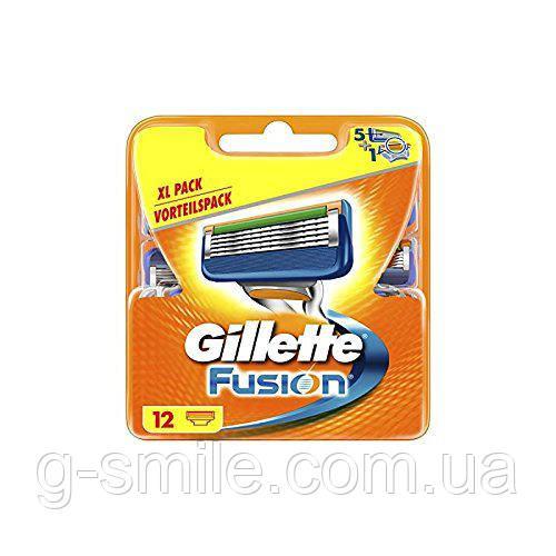 Кассета для бритья Gillette Männer Fusion Rasierklingen - Сменные кассеты для бритья Gillette Fusion, 1x12