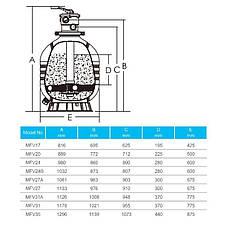 Фильтр Emaux MFV27 (18 м3/ч, D675), для бассейна объёмом до 72 м3, фото 2