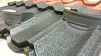 Снегозадержатель подкова (коронка) для предотвращения лавинного схода снега с поверхности кровли цвет RAL8019
