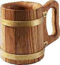 Кухоль 0,5 л дубова для лазні та сауни, фото 2