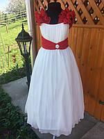 6b40b3aa62c Нарядное белое платье на выпускной в 4 классе