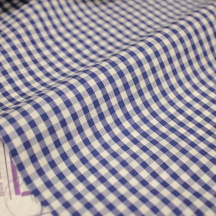 Сорочкова тканина принт клітина D-105 (від 10 метрів), фото 2