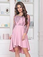 Вечернее Платье каскад в розовом цвете, фото 1