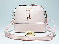 d85578787be0 Маленькая женская сумка розовая с оленем на плечо/через плечо Melani