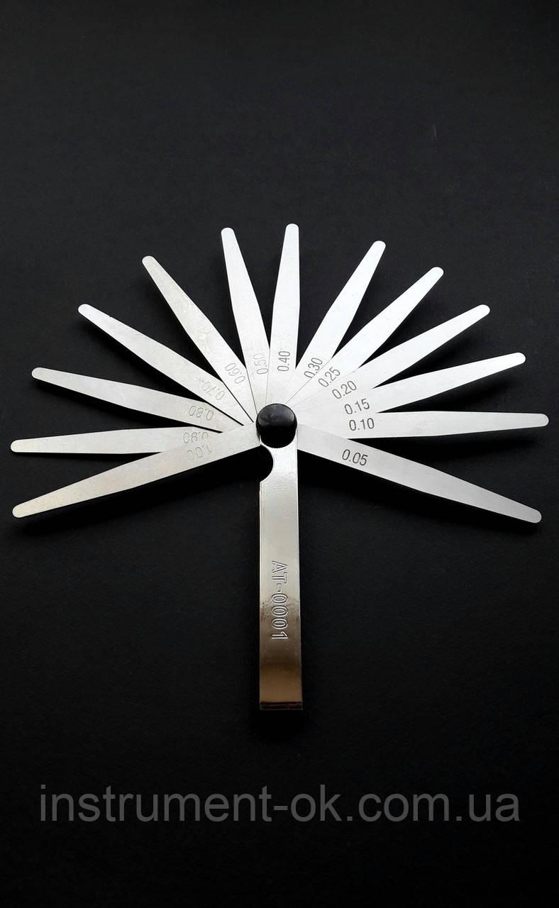 Набор щупов измерительных Intertool 0.05-1.00 мм (13 лепестков)