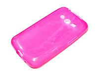 Чехол силиконовый однотонный Samsung Galaxy Ace 4 g313 розовый