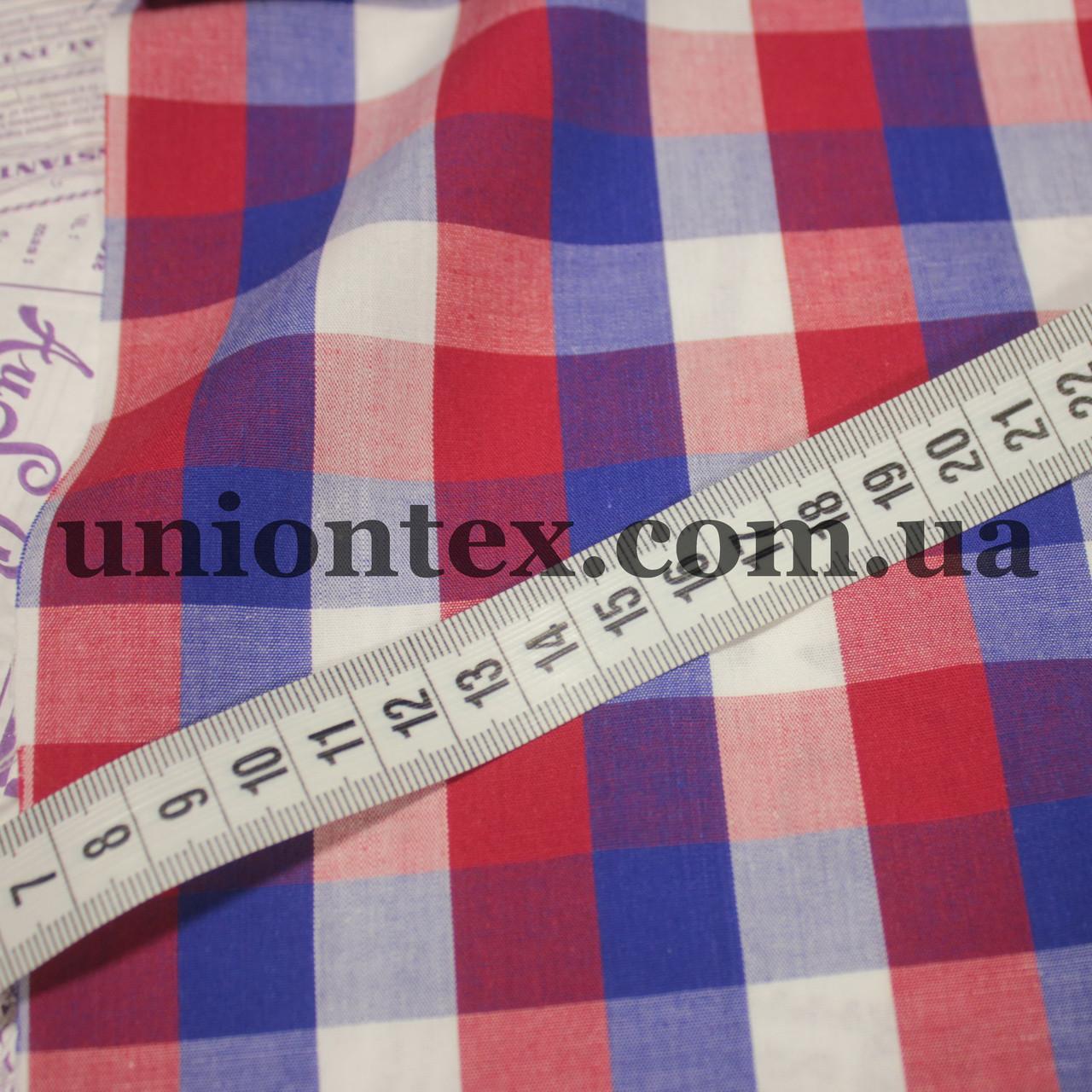 Рубашечная ткань клетка (минимальный отрез 10м)