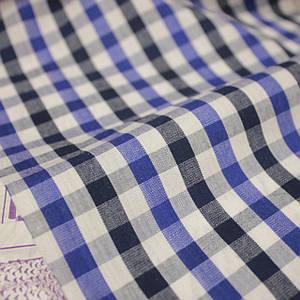 Рубашечная ткань принт клетка D-109 (от 10 метров)