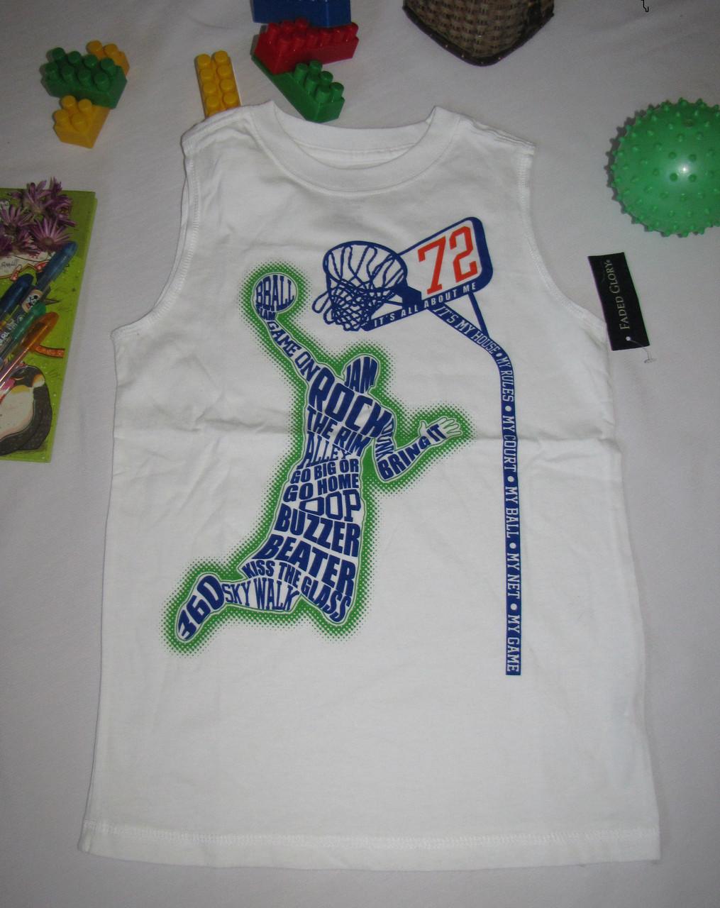 Спортивная майка Faded Glory Баскетбол рост 116 см белая 07089