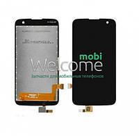 Дисплей LG K120E K4 LTE/K121/K130E/K100DS with touchscreen black
