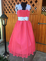 Длинное платье из шифона на выпускной в 4 классе