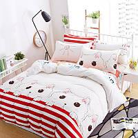 Уценка (дефекты)! Комплект постельного белья Nice Cat (двуспальный-евро) Berni, фото 1