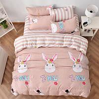 Уценка (дефекты)! Комплект постельного белья Loving Rabbit (двуспальный-евро) Berni, фото 1