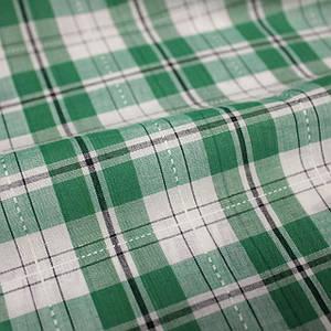 Рубашечная ткань принт клетка с вышивкой (от 10 метров)