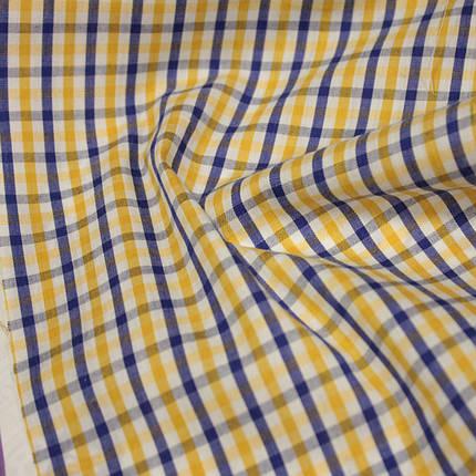 Сорочкова тканина принт клітина D-51 (від 10 метрів), фото 2