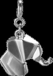 Серебряные подвески в стиле оригами Слон
