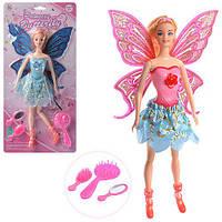 Кукла L5733B (48шт) фея, 30см, свет, шарнирная,аксессуары,2вида,на бат-ке(табл),в слюде,19,5-39-4см