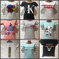 Футболка женская брендовая S-XL АКЦИЯ