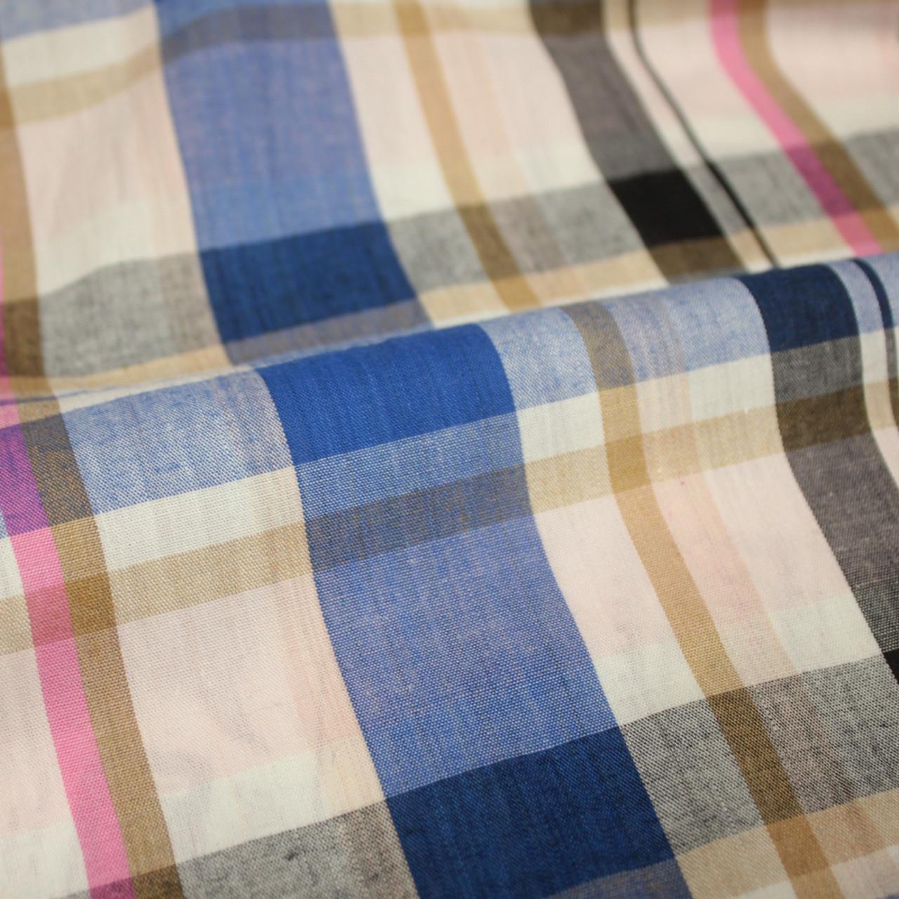 Рубашечная ткань принт клетка D-50 (от 10 метров)