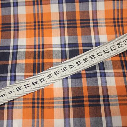 Рубашечная ткань принт клетка D-49 (от 10 метров), фото 2